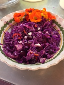 red cabbag beet slaw